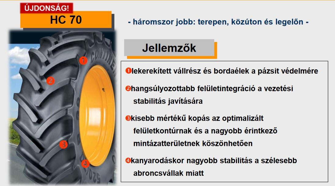 380/70R28 Continental abroncs mélyen áron alul